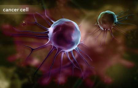 Digital illustration of stem cell in color background illustration