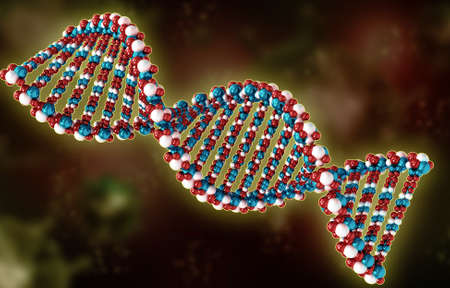genetically: Digital illustration of a dna in white background