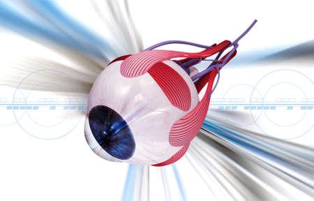 opthalmology: digital illustration of a Human eye in digital background