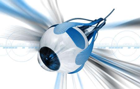 lateral eyes: digital illustration of a Human eye in digital background