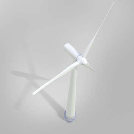 digital illustration of a windmill generator power plant in digital background illustration