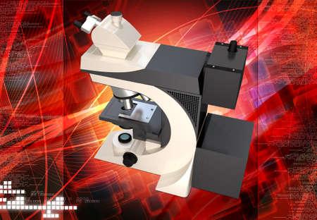 Digital illustration of microscope  illustration