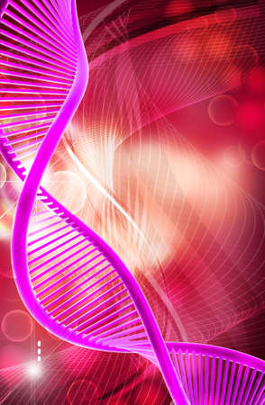 clone: Digital illustration of a dna  Stock Photo