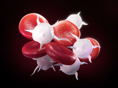digital illustration of streaming blood cells Reklamní fotografie