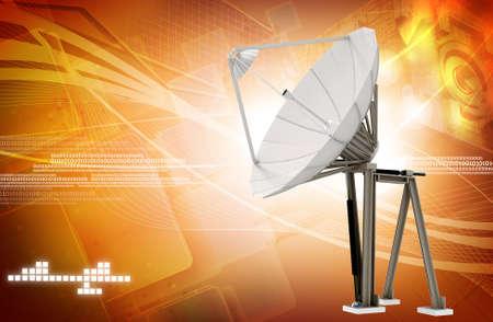 satellite dish in colour  photo