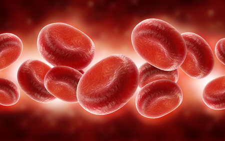 digital illustration of streaming blood cells Stock Photo