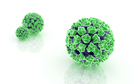 Digital illustration of papilloma virus Stock Illustration - 23006897