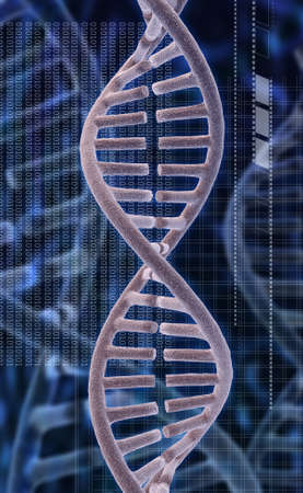 Digital illustration of a dna in digital background
