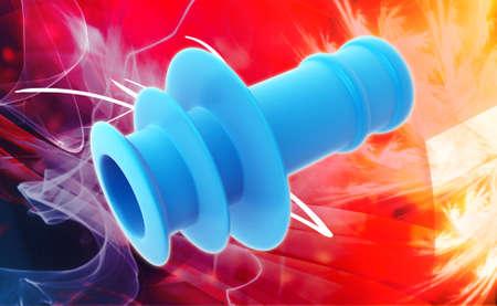 otorhinolaryngology: Spirale Auricolari in colore di sfondo