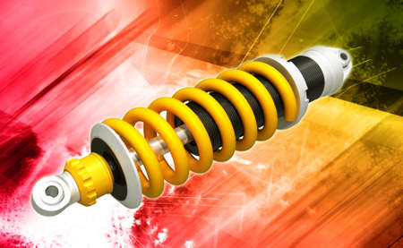 changing form: shock absorber isolated vector illustration of several options eps10   shock absorber Stock Photo