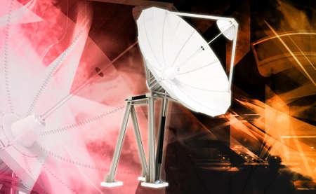 satellite dish in colour background photo