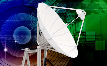 satellite dish in colour background photo