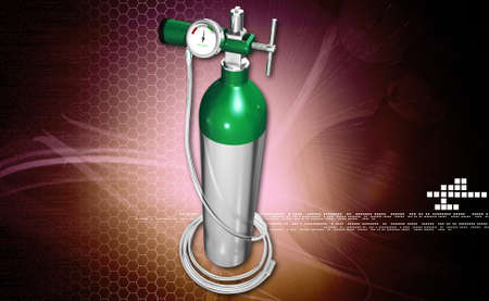 compressed gas: digital illustration of a oxygen cylinder in white background
