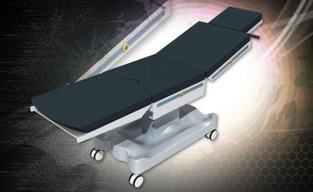 spetial: medical bed in white background Stock Photo