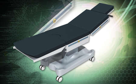 medical bed in white background Stock Photo - 24426379
