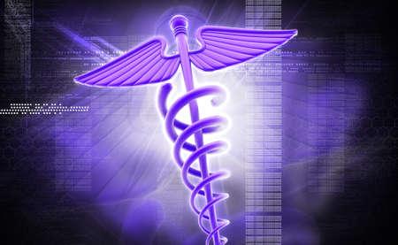 Digital illustration of medical symbol in colour background illustration