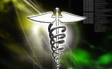 sceptre: 3d medical icon on a colour background