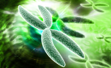 digital illustration of Chromosome in digital background illustration