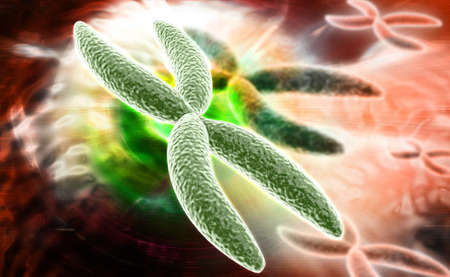 digital illustration of Chromosome in digital background Stock Illustration - 26332395