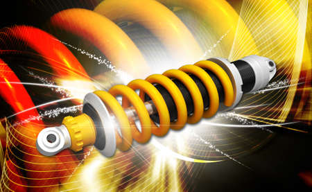 coil car: shock absorber isolated vector illustration of several options   shock absorber Stock Photo