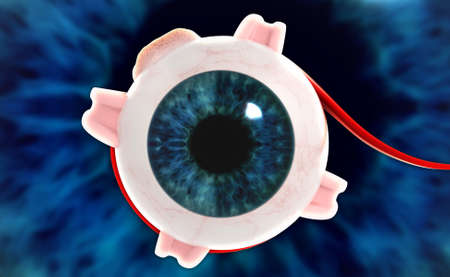 digital illustration of a Human eye in digital background illustration