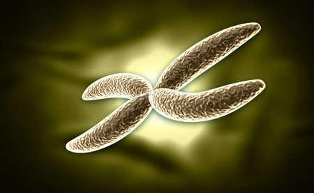 digital illustration of Chromosome in digital background Stock Illustration - 27084950