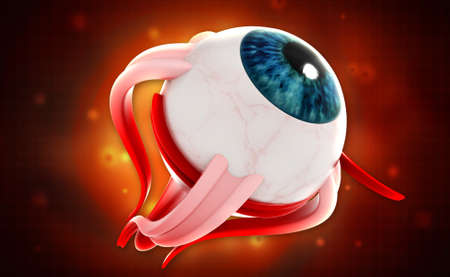 aide: digital illustration of a Human eye in digital background