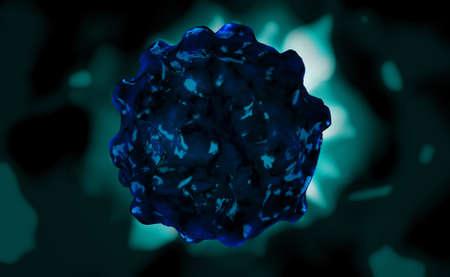 Digital illustration of hi virus in colour background illustration