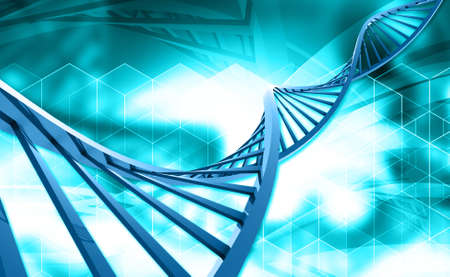 raytrace: Digital illustration of a dna in red background