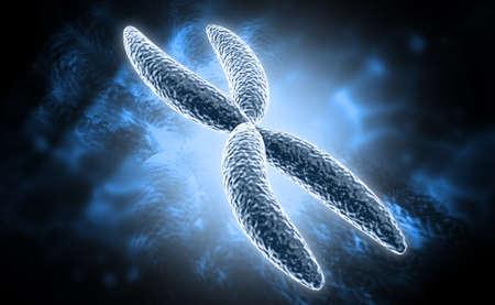 digital illustration of Chromosome in digital background illustration