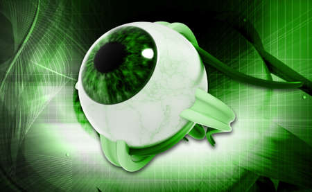 opthalmology: digital illustration of a Human eye in digital background