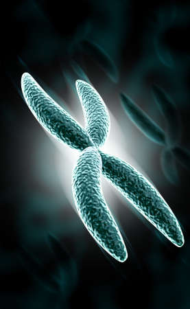 digital illustration of Chromosome in digital background Banco de Imagens