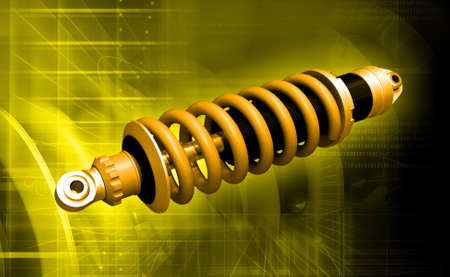 Digital illustration of Shockabsorber in colour background