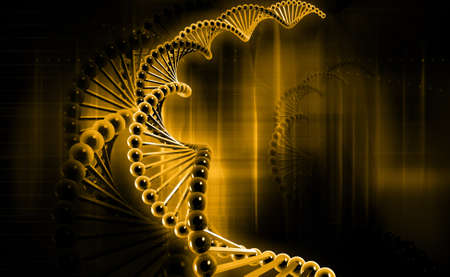 Digital illustration of a dna in colour background Reklamní fotografie