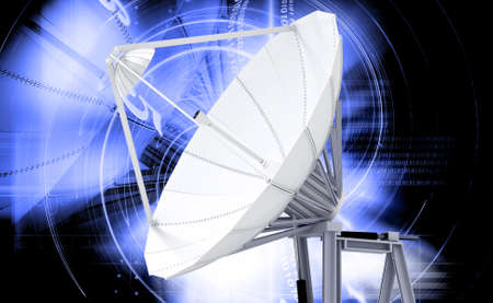 digital illustration of satellite dish in colour background Reklamní fotografie