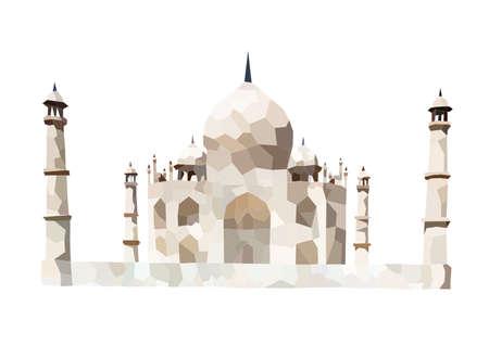 agra: Taj Mahal Vector, A nice vector art of the fabulous historic architect. Illustration