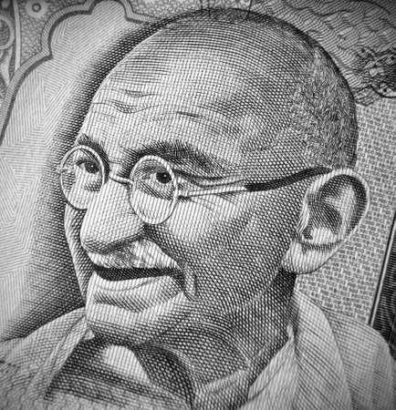 rupee: Closeup of hundred rupee note Stock Photo