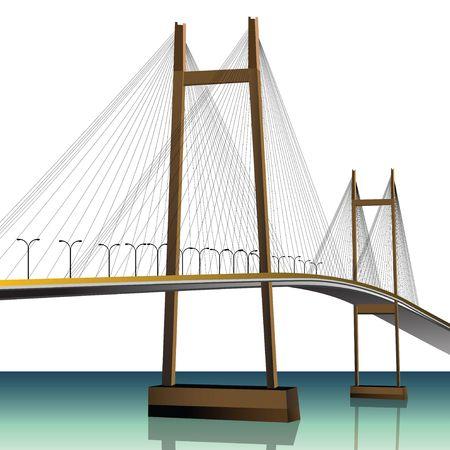 bridge across a river  photo