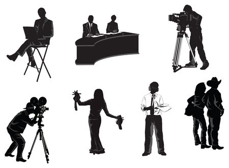 newsreader: collection of humans associated with film and media industry