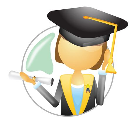 batch: un graduado sosteniendo el lote de grado y medalla