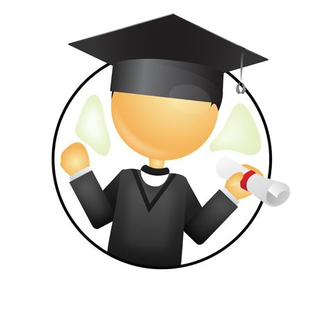 batch: graduado en celebraci�n por lotes de grado y la medalla de  Foto de archivo