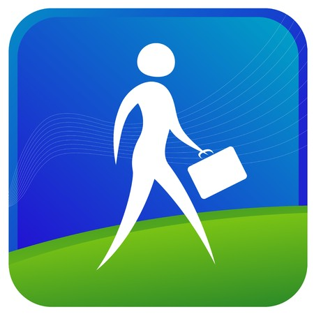 human walking with breifcase in hand Stock Vector - 7596786