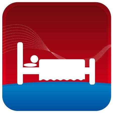 human sleeping on bed Stock Vector - 7596817
