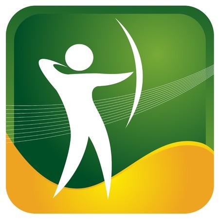 flechas: con el objetivo humano con arco y flecha