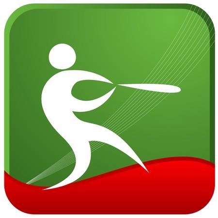 batsman: human playing baseball game Illustration