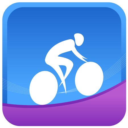 cyclist silhouette: human on a cycling game