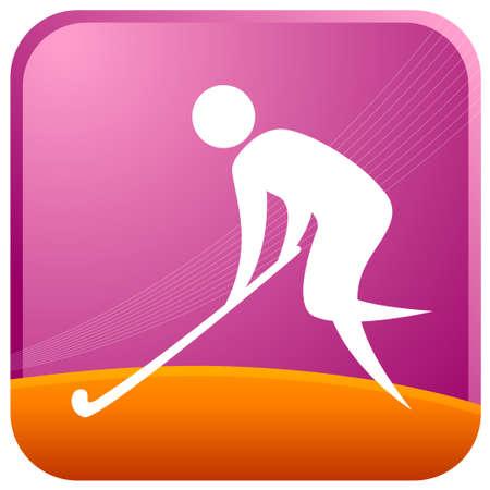 human playing with hockey stick