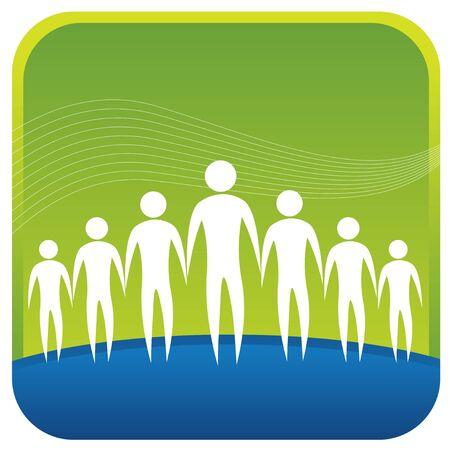 mensen die elkaar helpen bij het vormen van een netwerk Vector Illustratie
