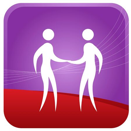 two humans holding hands Stock Vector - 7596937