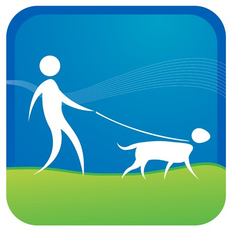 hand knot: human taking adog for a walk